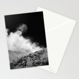 Boy Walking in front of Northern Nevada Forest Fire Stationery Cards