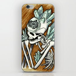 Geode skeleton covered in crystals iPhone Skin