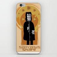 snape iPhone & iPod Skins featuring Serverus Snape by Nerd Literature
