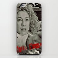 river song iPhone & iPod Skins featuring River Song; Hello Sweetie. by Art Corner