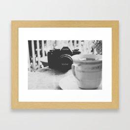 Vivitar and Tea Time Framed Art Print