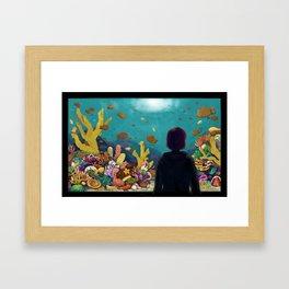 Taiyaki Aquarium Framed Art Print