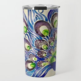 Blueberry Lime Peacock Travel Mug