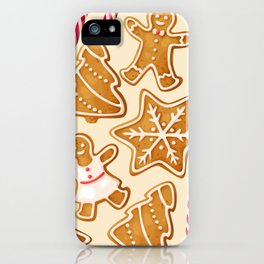 Gingerbread Cookies & Candy Canes iPhone Case
