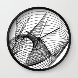 """""""Script Collection"""" - Minimal Letter D Print Wall Clock"""