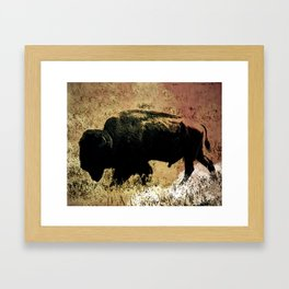 Golden hunt Framed Art Print
