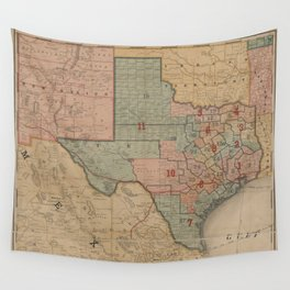 Houston Post map of the great Southwest (1880) Wall Tapestry