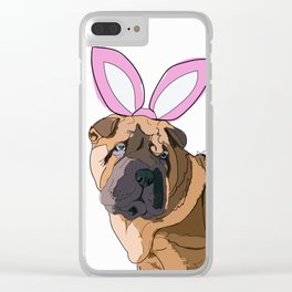 Happy Easter - Shar Pei Easter Bunny Clear iPhone Case