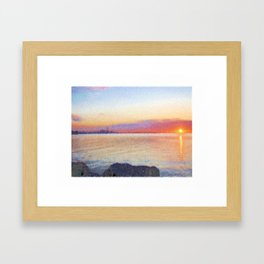 Canadian Sunrise Framed Art Print