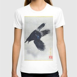 12,000pixel-500dpi - Kawanabe Kyosai - Crow Flying In The Snow - Digital Remastered Edition T-shirt