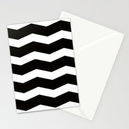 B&W waves Stationery Cards