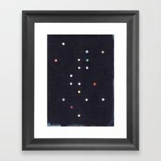 Dark Constellation Framed Art Print