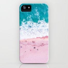 California coastline sand and surf iPhone Case