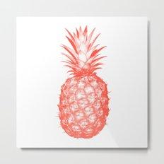 Coral Pineapple Metal Print