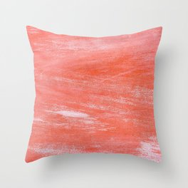 Salmon Paint (Color) Throw Pillow
