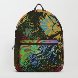 Jerry Gar-cia Playing Canvas Print Backpack