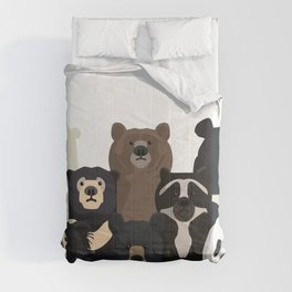 Bear family portrait Comforters