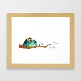 Owls family Framed Art Print