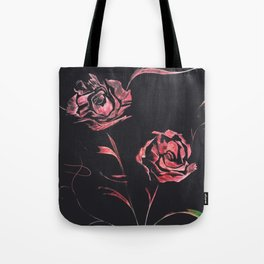 Red Roses - Spray Paint Art Tote Bag