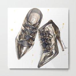 Shoes: Golden Dreams Metal Print
