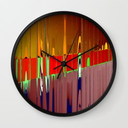 steel & rust Wall Clock