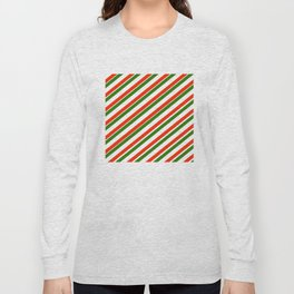 TEAM COLORS 1...Gren ,red,white Long Sleeve T-shirt