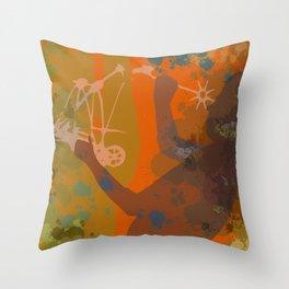 Voyager (Orange) Throw Pillow