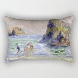 Moulin Huet Bay, Guernsey by Pierre-Auguste Renoir Rectangular Pillow