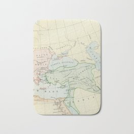 Old Map of The Roman Empire Bath Mat