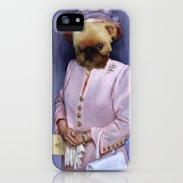 Dogs with Hands- The Queen iPhone Case
