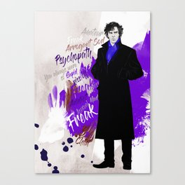 Sherlock BBC (Phenomena) Canvas Print