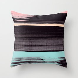 Miami stripe Throw Pillow