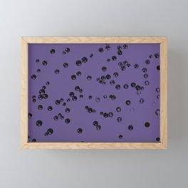 Ultra Violet Crystal Stones #3 #shiny #decor #art #society6 Framed Mini Art Print