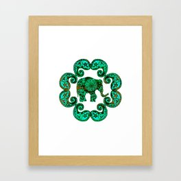 Emerald Elephant Framed Art Print