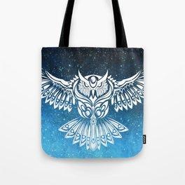 Heavenly Owl // Space Mosaic Tote Bag