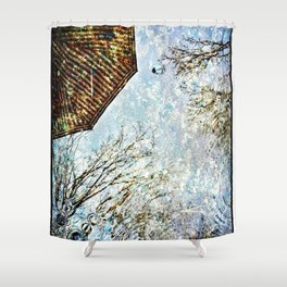 Reflective Perspective Shower Curtain
