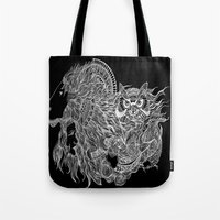 courage Tote Bags featuring Courage~  by AnyaJocson