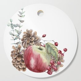 Winter Composition Cutting Board