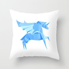 Origami Pegasus Throw Pillow