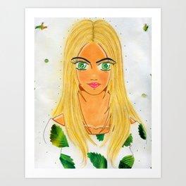 The Banana Leaf Gaze Art Print