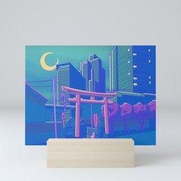 Neon Moon Mini Art Print