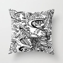 Dead End doodle Throw Pillow