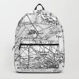 Vintage Paris Map Backpack