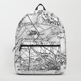 Vintage Paris Map Backpack