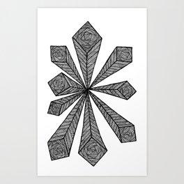 Cubic Explosion Art Print