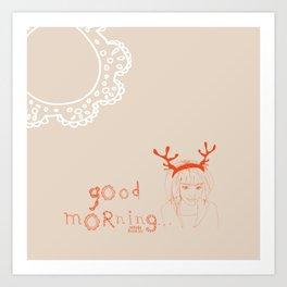 The good lady Art Print
