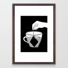 A Cup of Book Framed Art Print