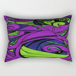 Birthing Life (Purple) Rectangular Pillow