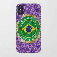 brazil iPhone & iPod Cases featuring Football Brazil by mewdew