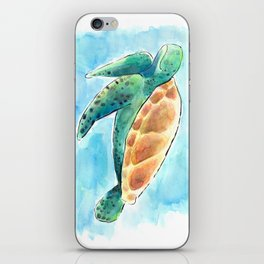Sea Turtle Waterolour iPhone Skin